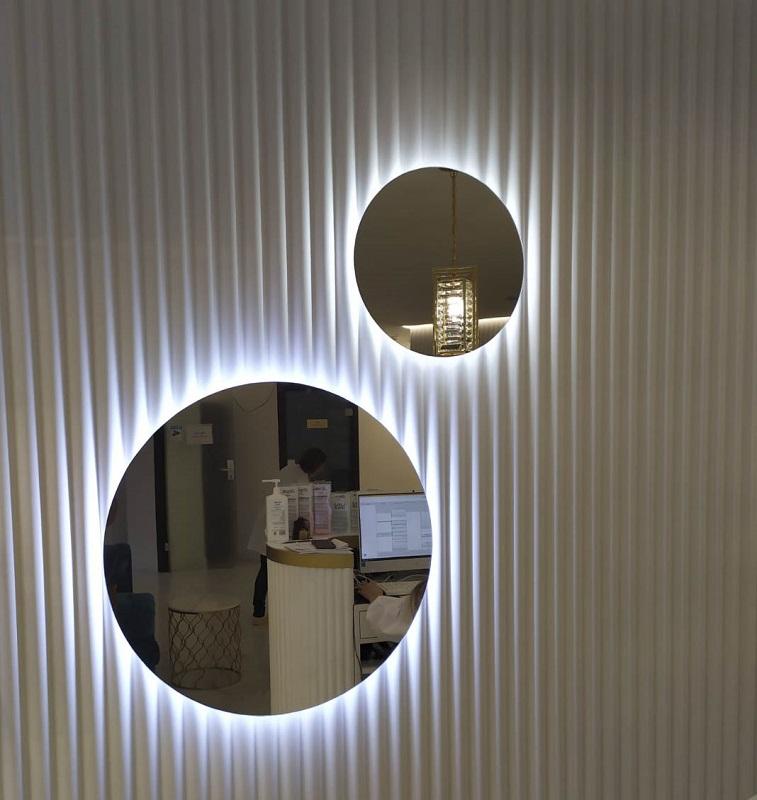 зеркало круг с подсветкой