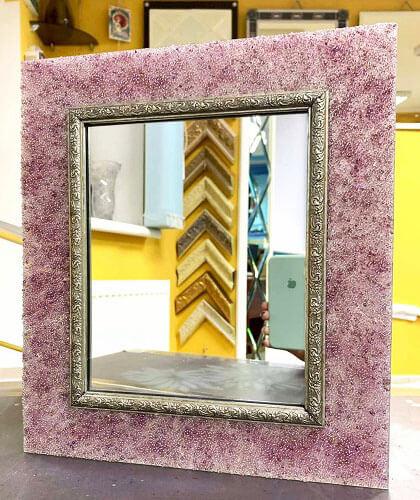 Зеркало мини Розовое